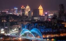 东华大桥夜景图片