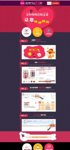 自助购物网页模板