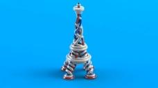 螺旋埃菲尔铁塔(彩色)