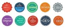 扁平化设计圆形标签矢量素材