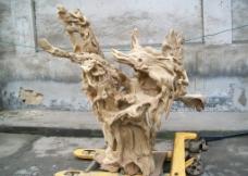 木雕根雕假山工艺品图片