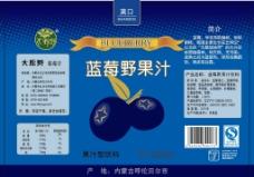 蓝莓瓶贴图片
