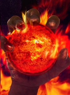 火球背景图片