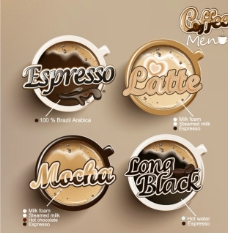 创意咖啡标签图片