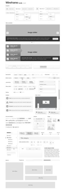 网页设计框架元素矢量素材