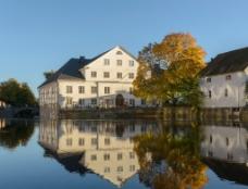 瑞典 菲里斯河畔 大学磨坊图片