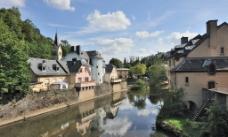卢森堡 阿尔泽特河 河畔 景色图片