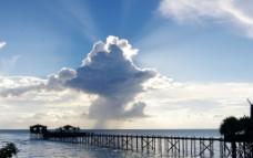 海上云朵图片