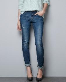 牛仔裤模特图片