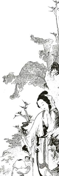 古代矢量美女图 侍女图片