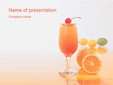 橙汁ppt模板