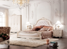 法式家具床图片素材下载