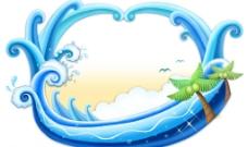 海浪模板图片