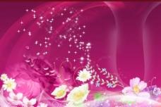 鲜花背景设计图片