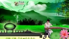茶叶包装摸板 叠翠山生态茶图片