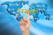 触摸科技 旅行 工作 全球图片