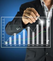 业绩提高商务设计财经图片
