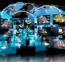 全球经济未来科技商务图片