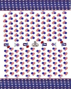 心形旗帜花布图片