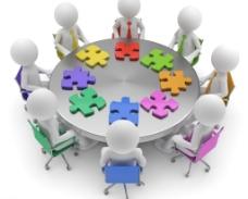 圆桌会议3d小人图片