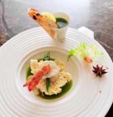 锅巴凤尾虾图片