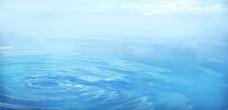 蓝色海面图片