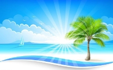 夏天背景图片