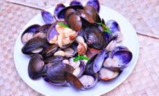 蒜头炒蛤蜊图片