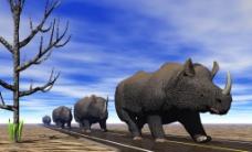 创意无限犀牛图片