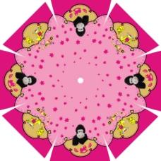 个性雨伞伞花设计