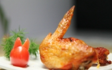 新奥尔良烤翅 摄影图片