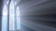 彩绘玻璃的阳光运动背景 视频免费下载