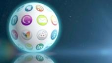 旋转运动背景下社会媒体领域 视频免费下载