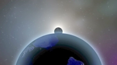 在空间运动的背景地球、月球和太阳 视频免费下载