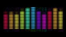 彩色光谱的水平运动的背景 视频免费下载