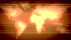 滚动的红色发光的扁平的地球运动的背景 视频免费下载