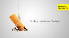 创意公益海报的禁烟图片