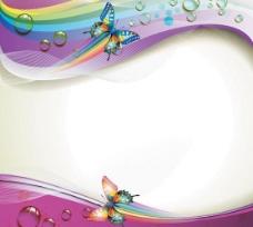动感梦幻蝴蝶背景图片
