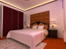 木纹卧室壁柜