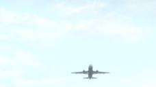大飞机飞过头顶的股票视频 视频免费下载