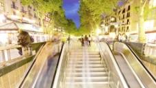 自动扶梯的晚上时间推移股票视频 视频免费下载