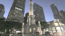 仰望摩天大楼夜4股票的录像 视频免费下载