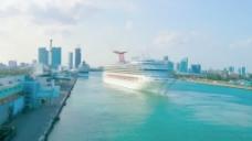 游船离开迈阿密股票视频影片箱 视频免费下载