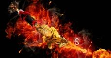 火焰特效摩托图片