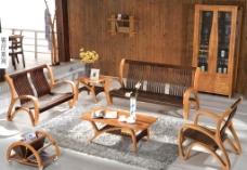 实木沙发椅图片