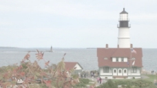 波特兰头光的灯塔在缅因州的股票视频 视频免费下载