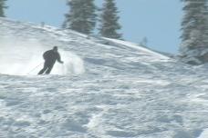 滑雪道栅栏股票视频