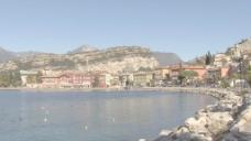 意大利加达湖在torbolo放大1股票的录像