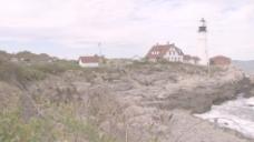 波特兰头光的灯塔在缅因州13股票的录像 视频免费下载