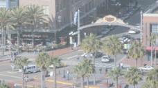 圣迭戈Gaslamp区路牌时间推移股票视频 视频免费下载